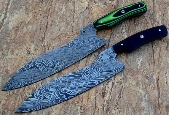 Vintage Style Chef Knife Pair - Micarta Handle - Limited Edition
