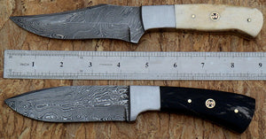 Rg-017 Custom Damascus Steel Knives- Ideal for Hunting & Bushcraft