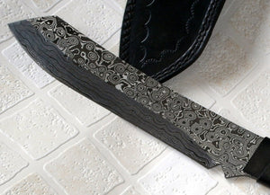 REG 296 Custom made Damascus Steel Full Tang 13 Inches Knife - Black Beauty
