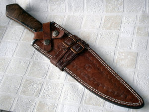 REG 65- Handmade Damascus Steel 15.00 Inches Bowie Knife - Walnut wood Handle