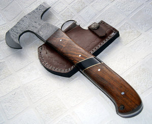 DIST 13-259 Custom made Damascus Steel 12.00 Inches Hatchet - Gorgeous and Solid