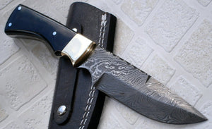 BC-4234 Handmade Damascus Steel Bushcraft Knife - Stunning Easy Grip Handle