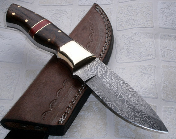BC-4244 Handmade Damascus Steel Bushcraft Knife - Stunning Easy Grip Handle