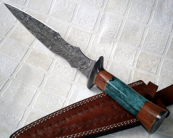 RAM-4789 Damascus Steel 14.50 Inches Dagger Knife – Stunning Exotic Handle