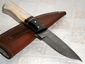 BC- T- 017 Custom Handmade Damascus Steel Knife- Ideal for Camping or Bushcraft