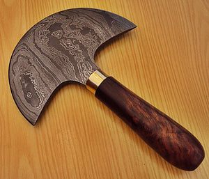 BC-B-102 Handmade Damascus Steel Saddlers Axe Knife - Beautifully Crafted