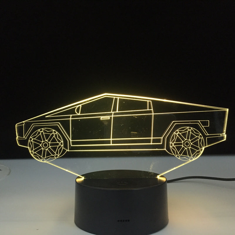 3D Cybertruck Led Lamp