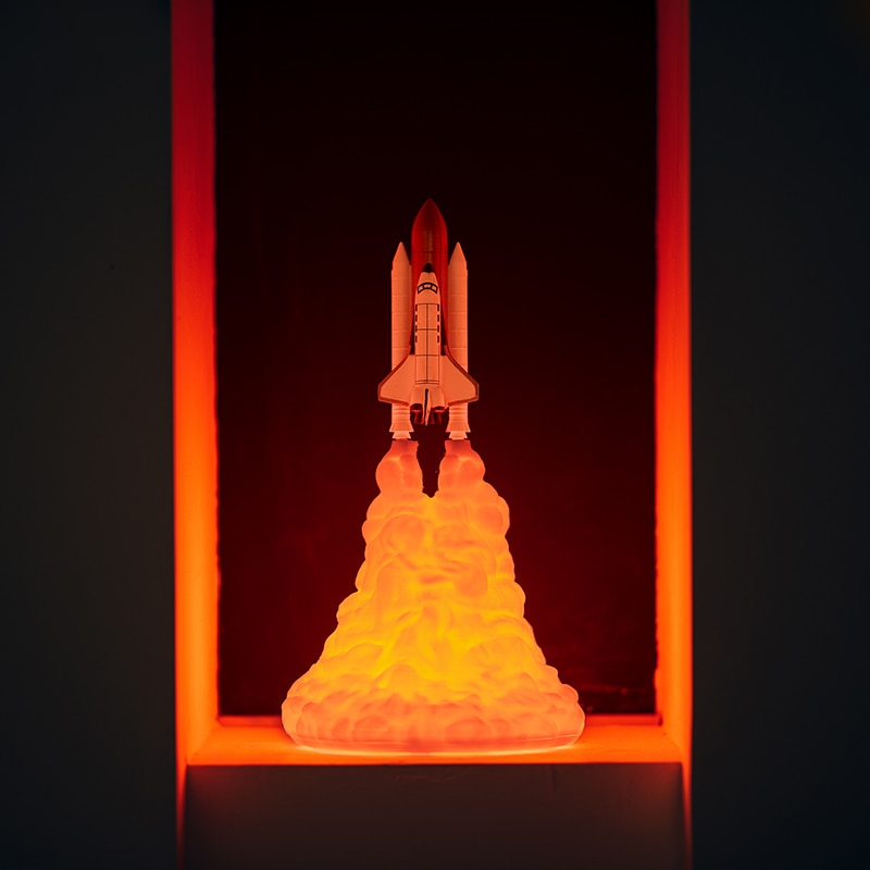 2019 New Design 3D Print Space Shuttle Lamp and Moon lamps In Night Light