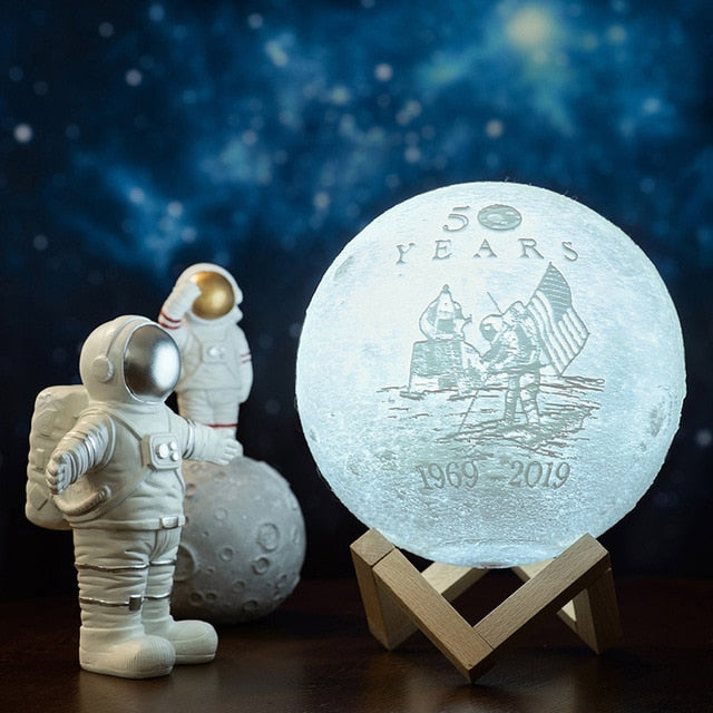2019 New Design Moon Land As 50th Anniversary Gift 3D Print Customized Moon Lamp For Moon Land