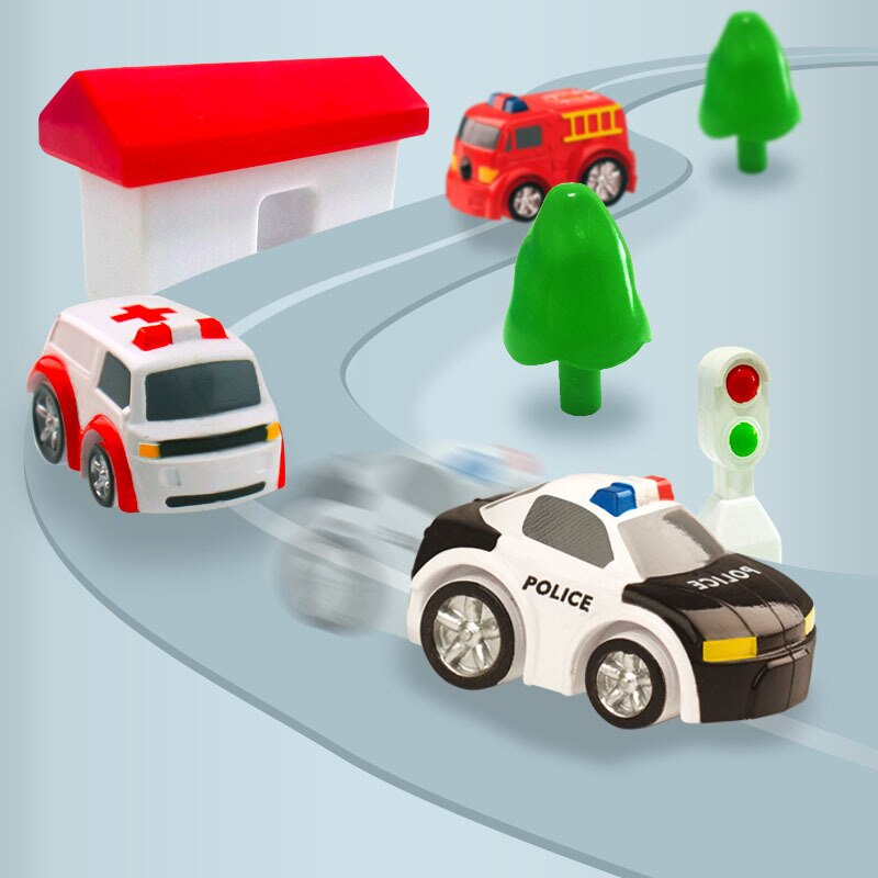 2019 Trend Car Adventure Track Toys For Children Educational Rescue Vehicles