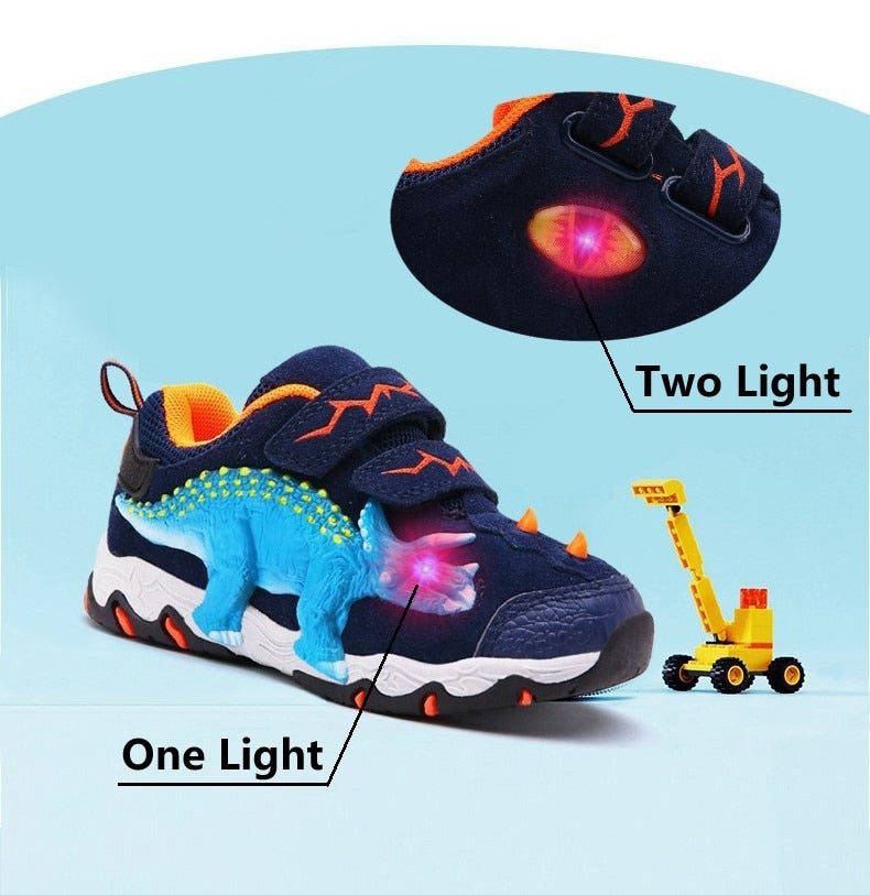 Dinosaurs LED Glowing Sneakers