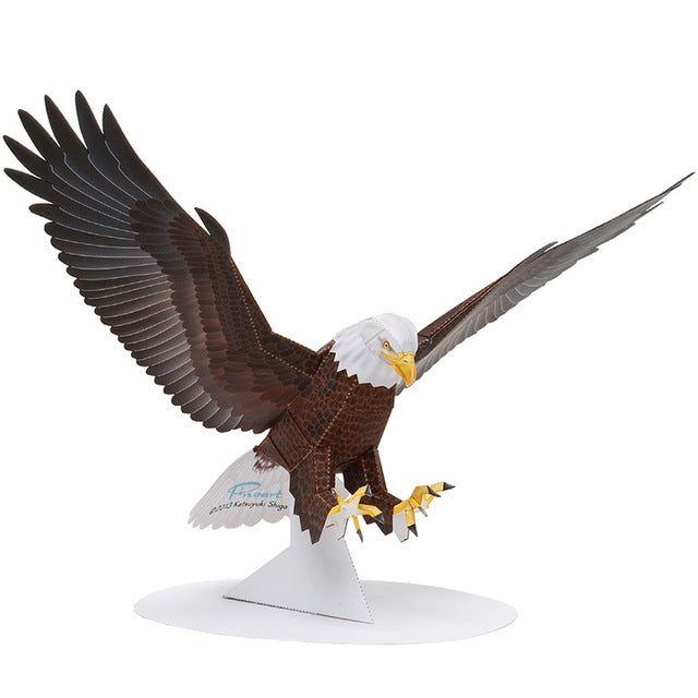 Bald Eagle Folding Cutting Mini Cute 3D Paper Model Papercraft