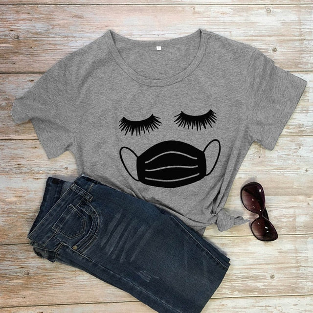 Eyelashes With Facemask T-shirt