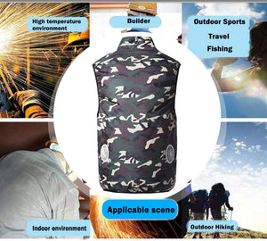 USB Fan Cooling Vest Unisex