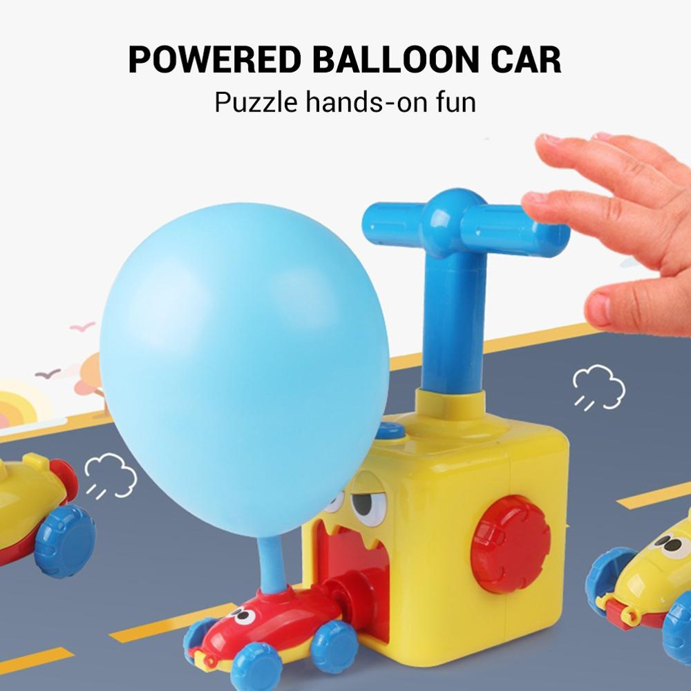 Education Science Power Balloon Car Toy