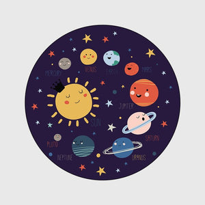 Space Theme Rugs for Kids Room