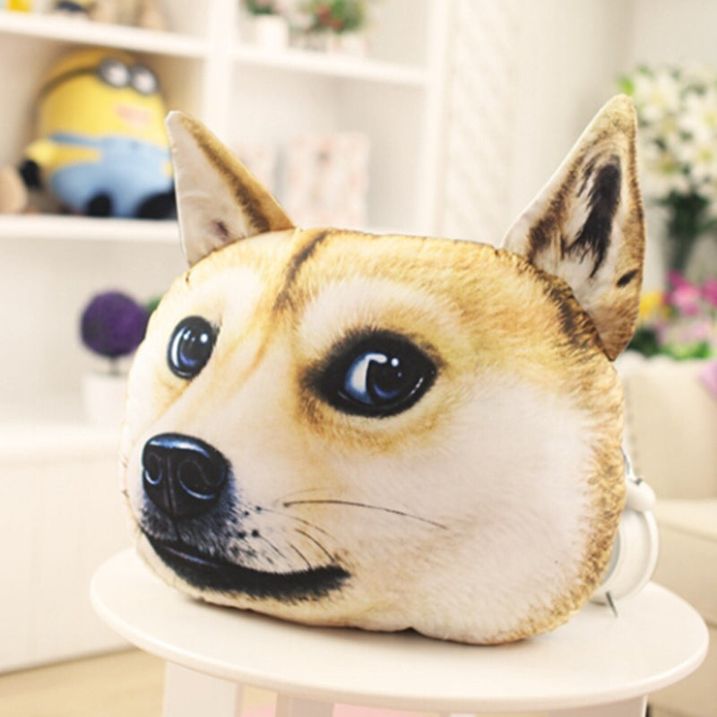 3D Husky Plush Pillow