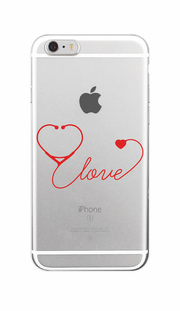Nurse Medical Medicine Health Heart Soft Phone Case For iPhone 7 7Plus 6 6S 6Plus 5 5S SE 8 8Plus X