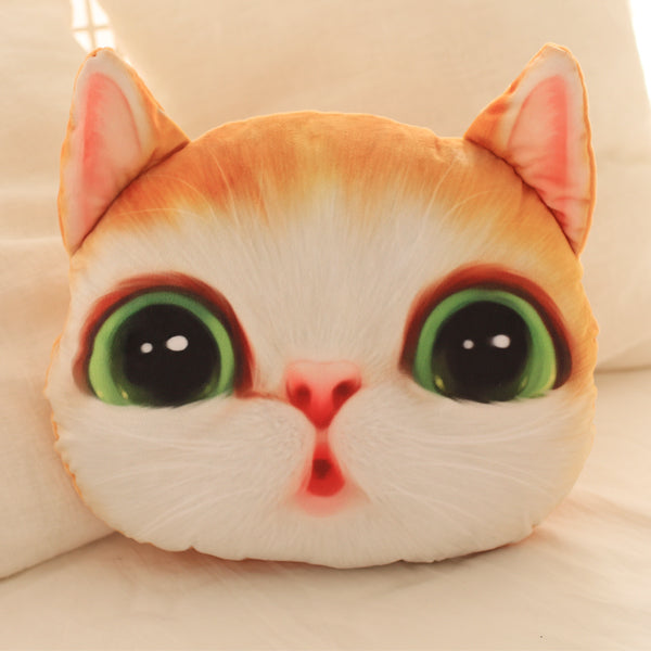 Creative Simulation 3D Cat Kitty Washable Home Nap Cushion Pillow