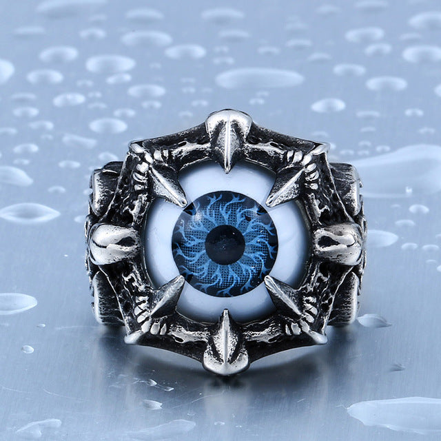 New Design High Quality Claw Fake Eye Ring