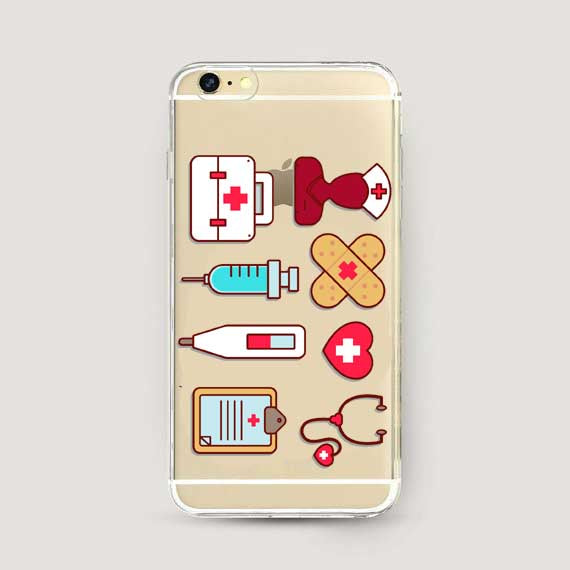 Nurse Doctor Dentist Soft silicone Phone Case For iPhone X 5 5S SE 6 6S Plus 7 7Plus 8 8Plus Cover