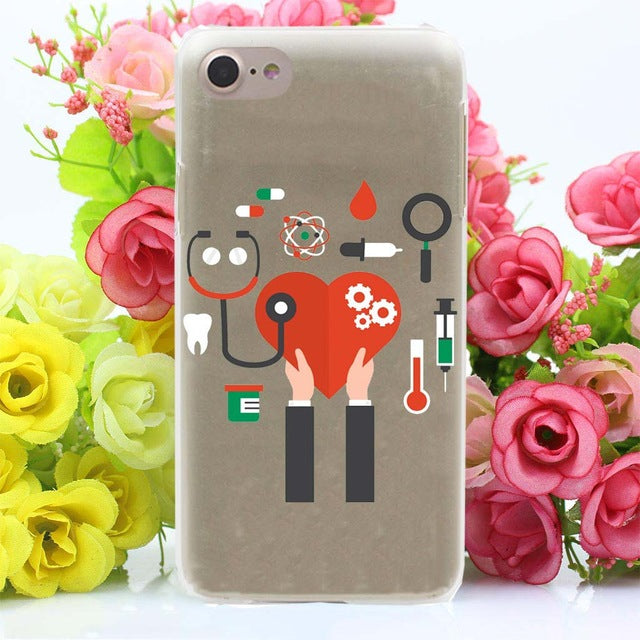 Cute Love Doctor Medical Hard Case For iPhone