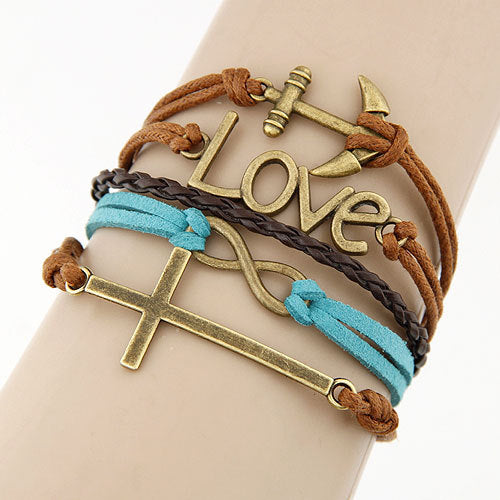 Trendy Leather Bracelet Women