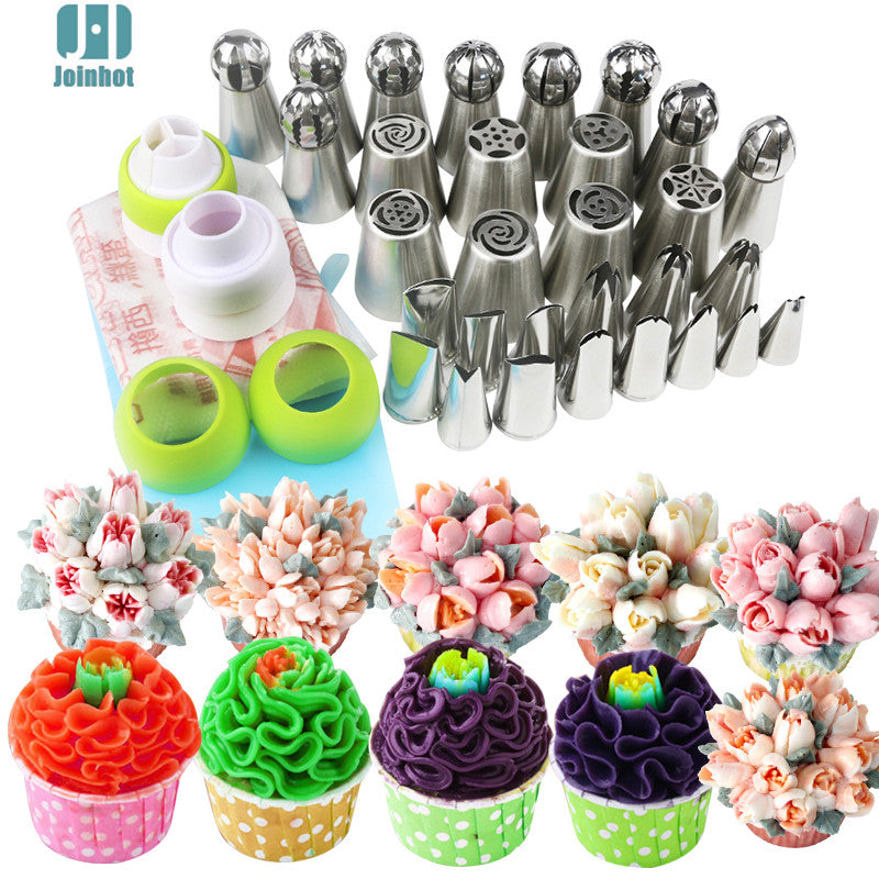 43pcs /set russian nozzles  ball leaves rose tips  and Cake Cream Decorating Disposable