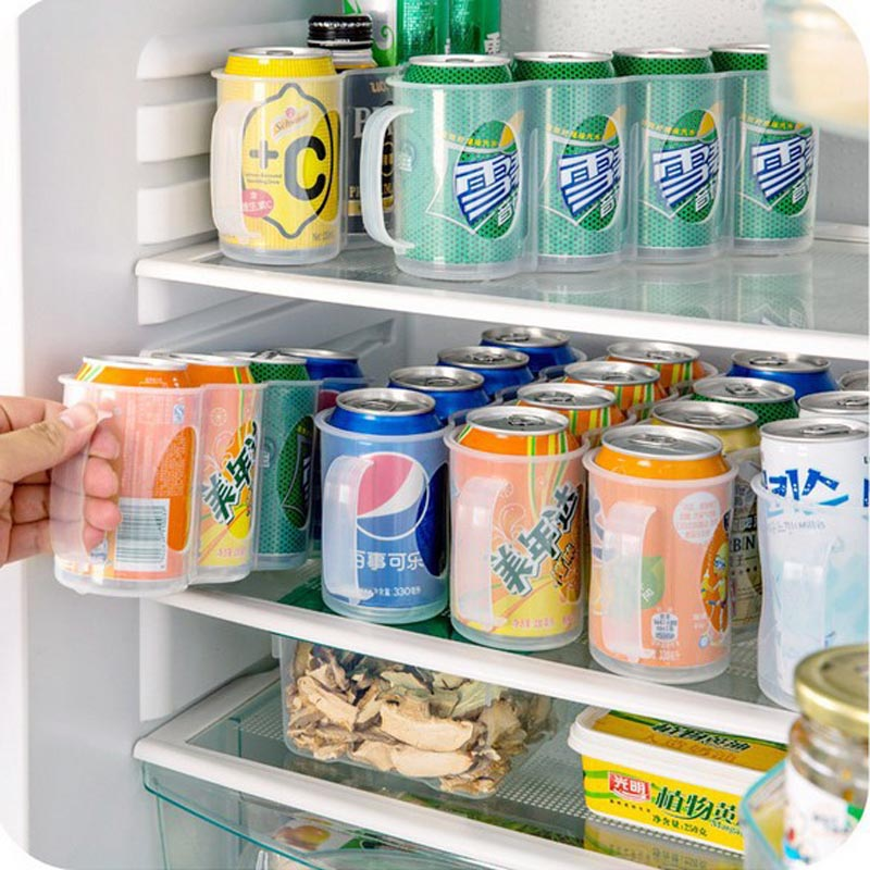 Useful Refrigerator Storage Box Kitchen Accessories Beverage Can Space-saving Organizer