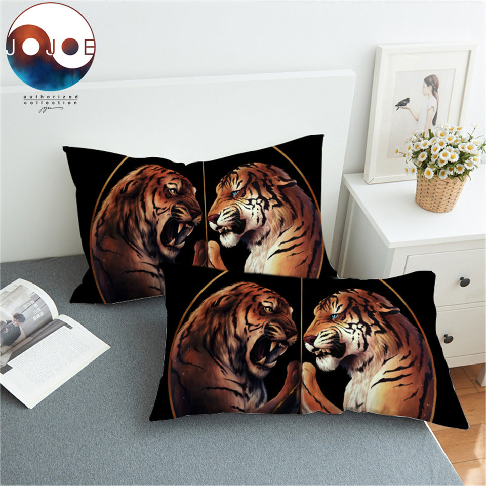 Peace Black  Pillowcase Black Pillow Case TwoTigers Bedding Animal Printed Home Textiles