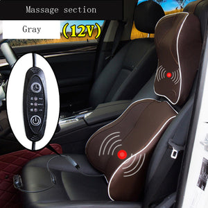 Newest Electric Massage Waist Support Interior Accessories Electronic Car Seat Supports And Neck Pillow Memory Cotton 2pcs/set