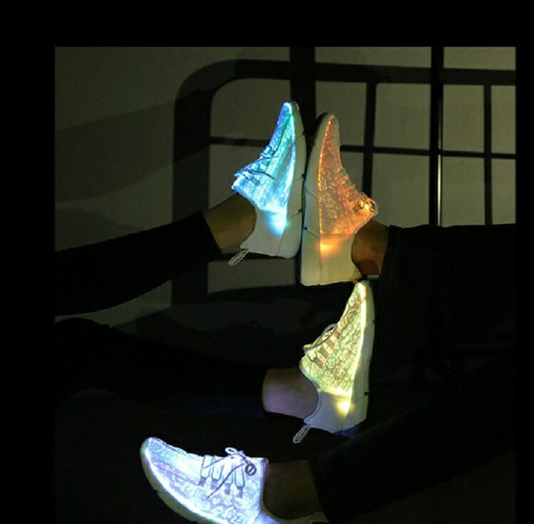 25-46 New Summer Led Fiber Optic Shoes for girls boys men women