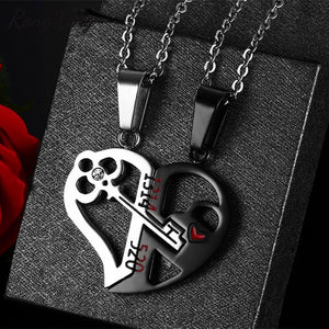 Creative Detachable Half Love Heart Pendants For Women Men Stainless Steel Couples Necklaces Fashion Valentine Gifts