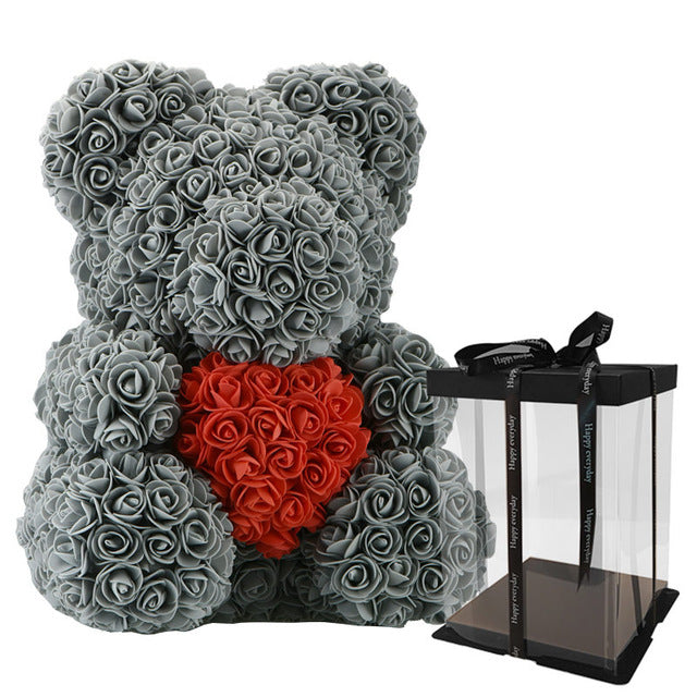 2019 Hot Sale 40cm Bear of Roses Artificial Flowers