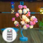 Flower Rose Tree Shape USB Port and Battery Powered Table Lamp Lights Remote-Control Decorative LED Lights Parties,Xmas,Wedding