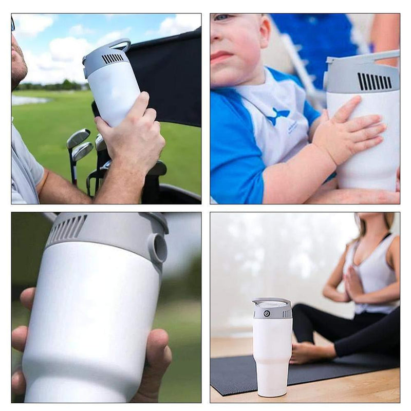 Mini Handheld Fan, Air-cooled Airconditioner,AIRWIRL Personal Cooling & Heating System,  for Fever Cooling  Knee joints  ankles