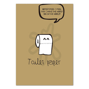 Toilet Paper Jokes Canvas Painting