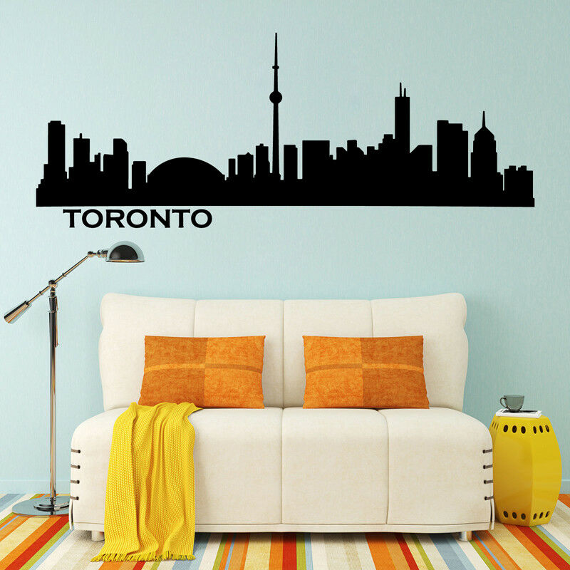 Toronto skyline cityscape silhouette vinyl wall sticker office college dormitory
