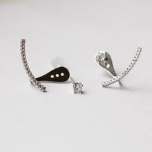Smile Crystal Silver Earrings
