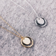 Round Circle Necklace Silver