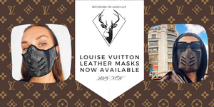 Genuine Leather Louise Vuitton Masks