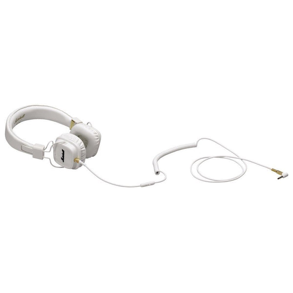 White Marshall Audio Major On-Ear Stereo Headphones