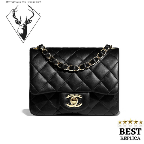replica-Chanel-MINI-FLAP-BAG-BLACK-motivations-for-luxury-life