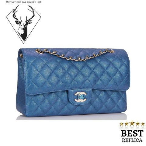 replica-Chanel-MINI-FLAP-BAG-BLUE-motivations-for-luxury-life