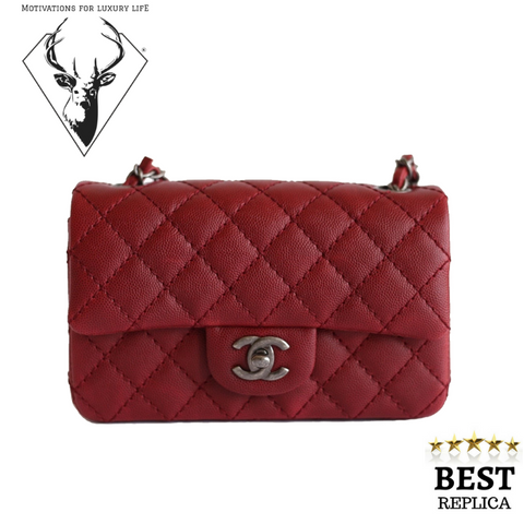 replica-Chanel-MINI-FLAP-BAG-DEEP-RED-motivations-for-luxury-life