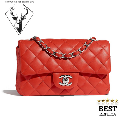 replica-Chanel-MINI-FLAP-BAG-RED-motivations-for-luxury-life