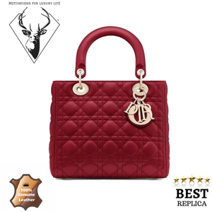 replica-Lady-Dior-CHERRY-RED-LADY-DIOR-MEDIUM-LAMBSKIN-motivations-for-luxury-life
