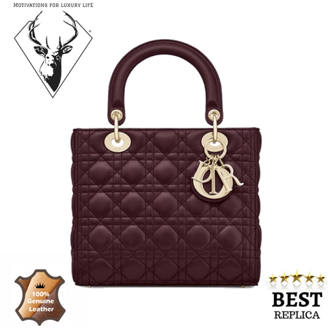 replica-Lady-Dior-BAG-IN-AMARANTH-CANNAGE-LAMBSKIN-motivations-for-luxury-life