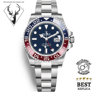 replica-2019-rolex-GMT-MASTER-2-PEPSI-DARK-BLUE-motivations-for-luxury-life