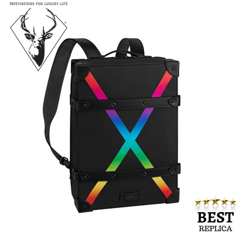 replica Louis Vuitton Soft Trunk Backpack Taiga PM Black_Rainbow motivations for luxury life